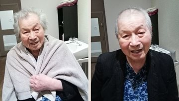 Manchester care home Resident enjoys a day of pampering